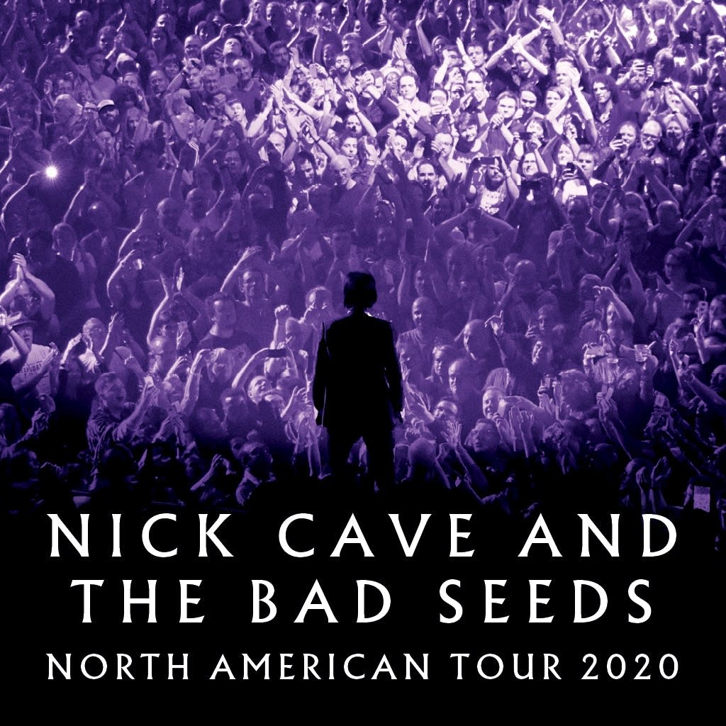 Promotional art for Nick Cave and the Bad Seeds 2020 tour.