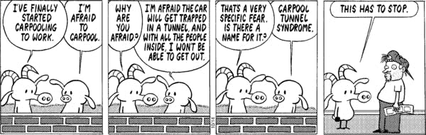Pastis often is punished for his bad puns in the last frame.