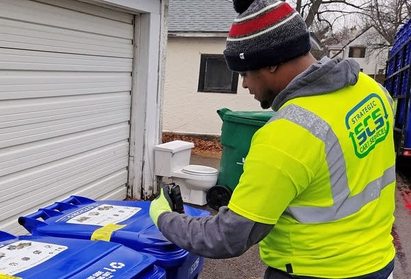 St  Paul recycling bins contain controversial tracking chip | MPR News