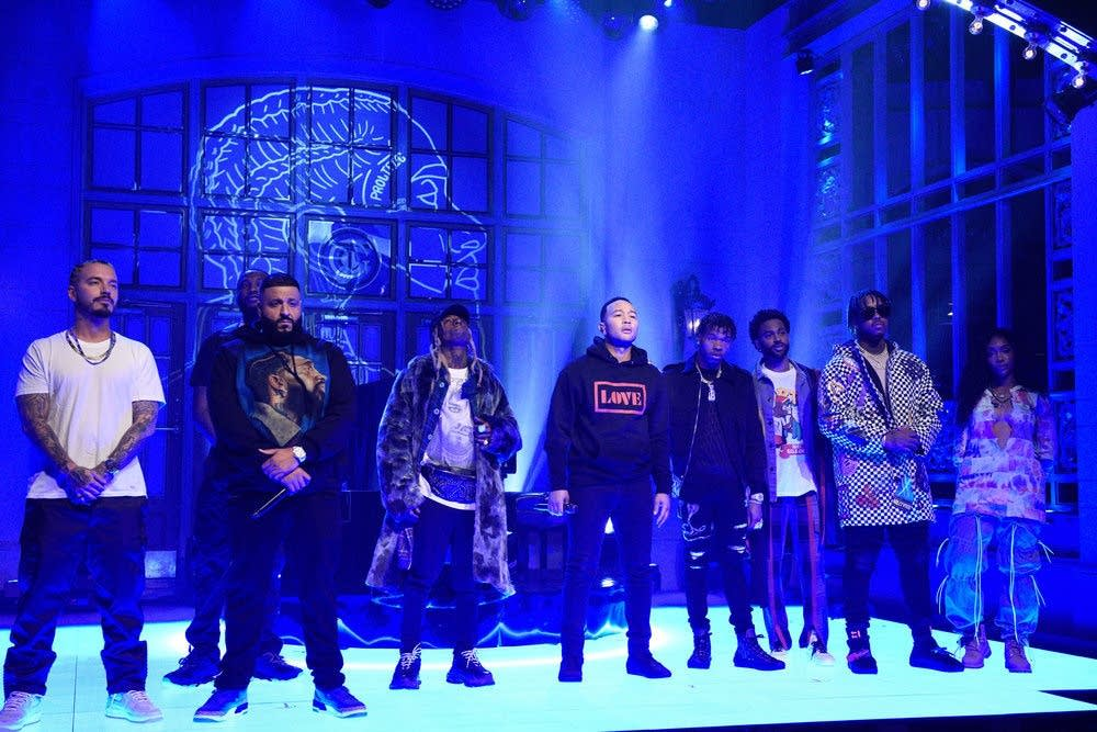 DJ Khaled and very special guests perform on 'Saturday Night Live'