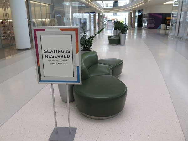 A special seating area for people with limited mobility.