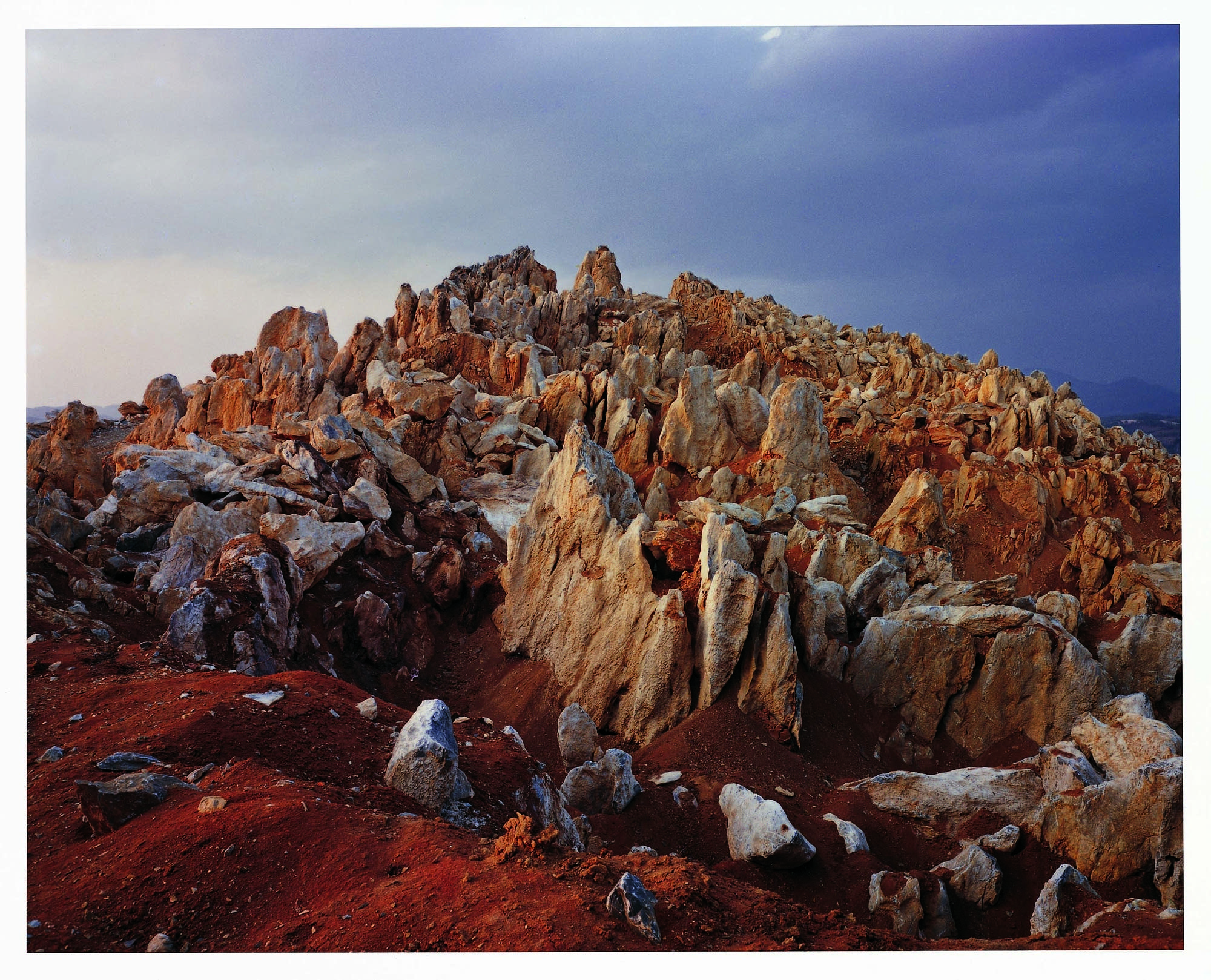 Naoya Hatakeyama began his photography working in limestone quarries.