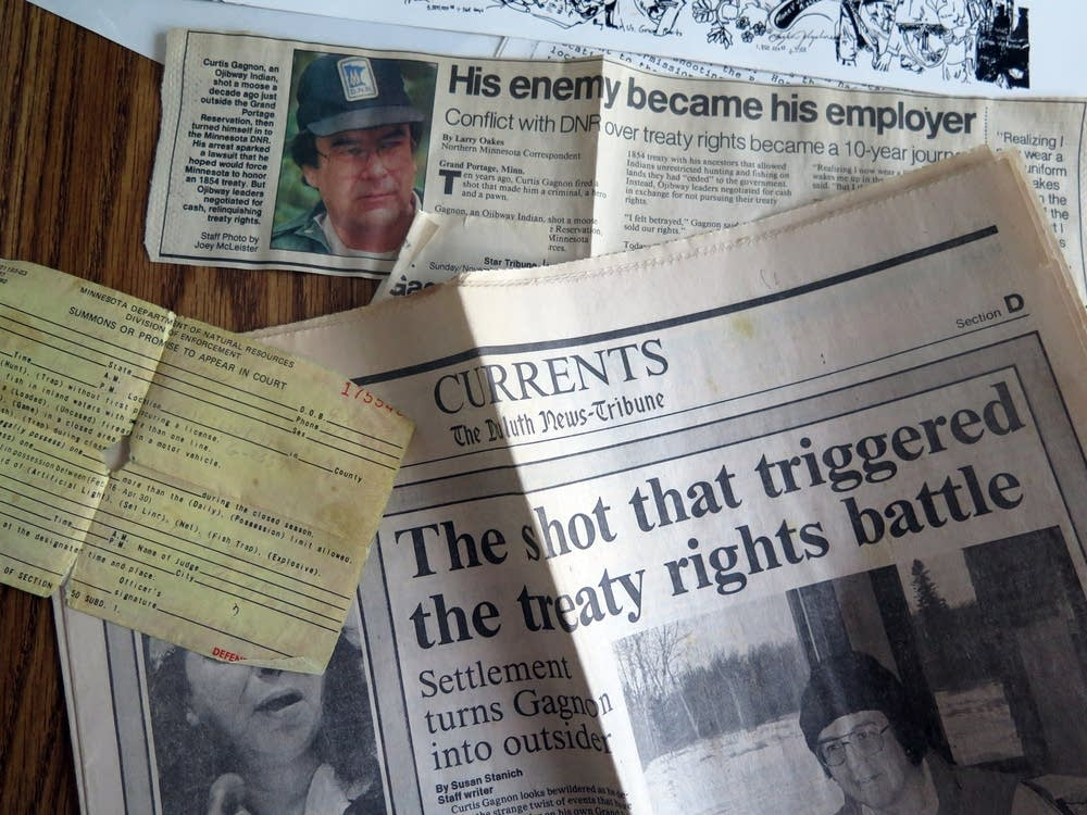Newspaper clippings from the treaty rights fight