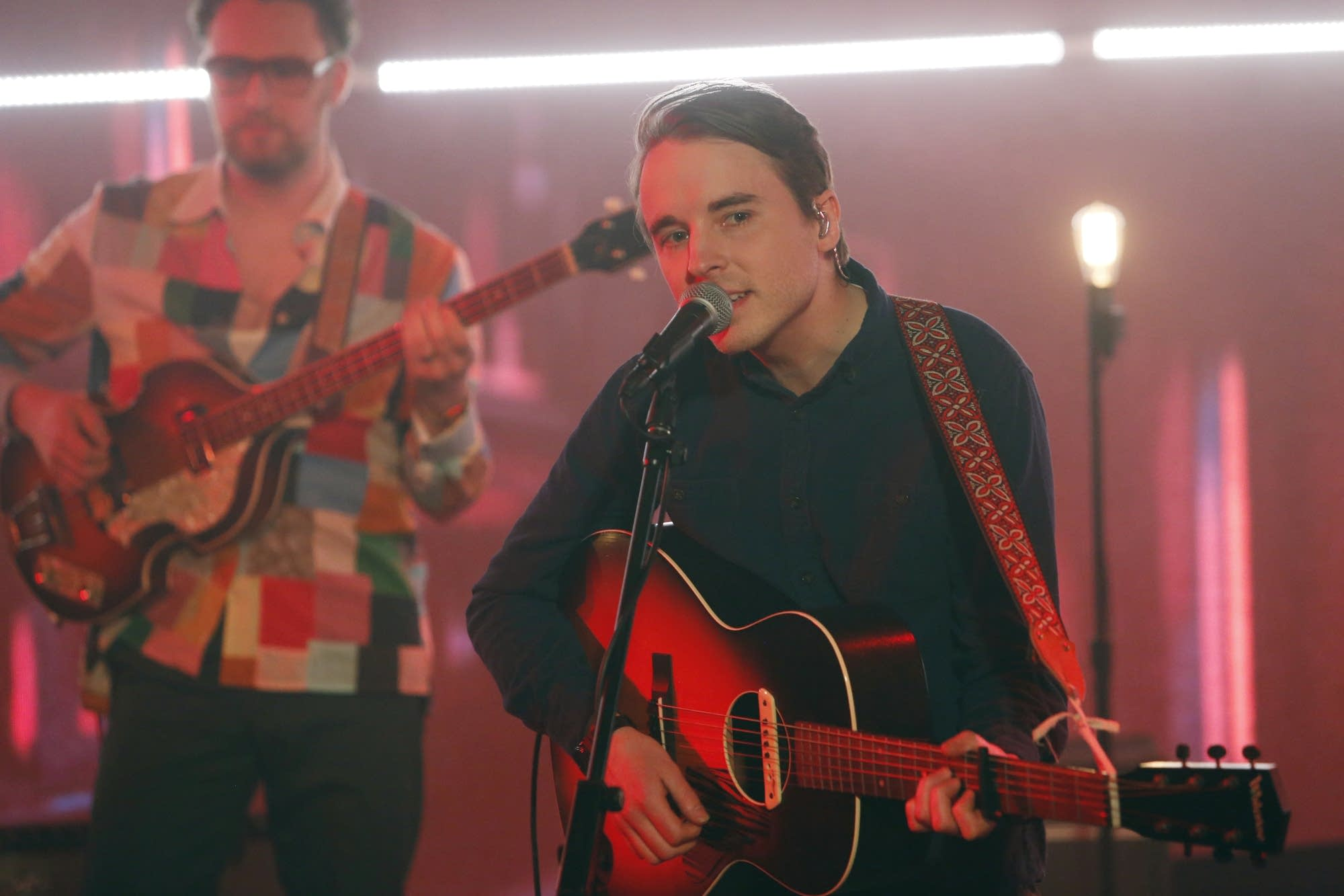 Andy Shauf performs on 'Jimmy Kimmel Live!' on ABC