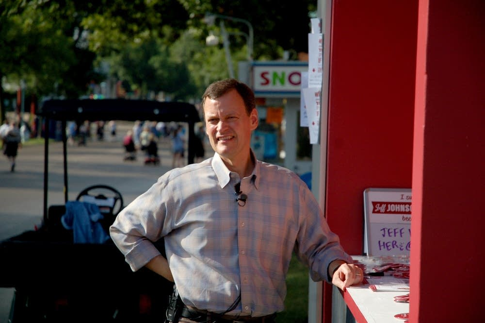 Jeff Johnson at the state fair's opening day