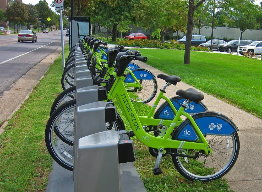 Nice Ride bike rack