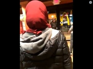 Video of the Monday night confrontation in Eden Prairie.