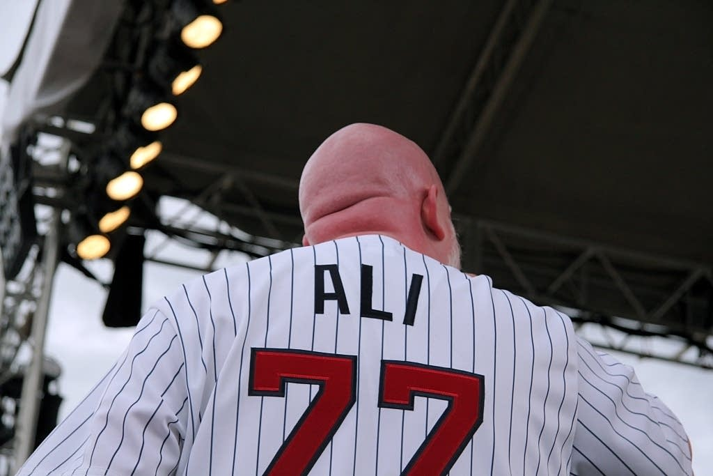 Brother Ali performing at Soundset 2010 in a custom MN Twins jersey