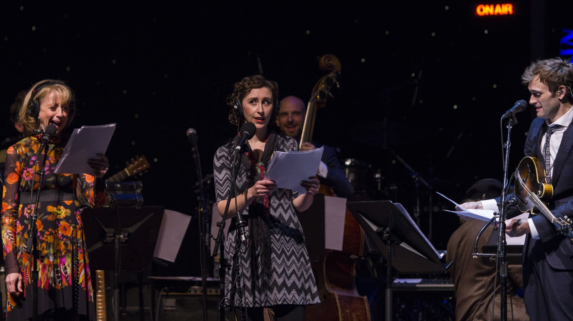 Sue Scott, Serena Brook, and Chris Thile