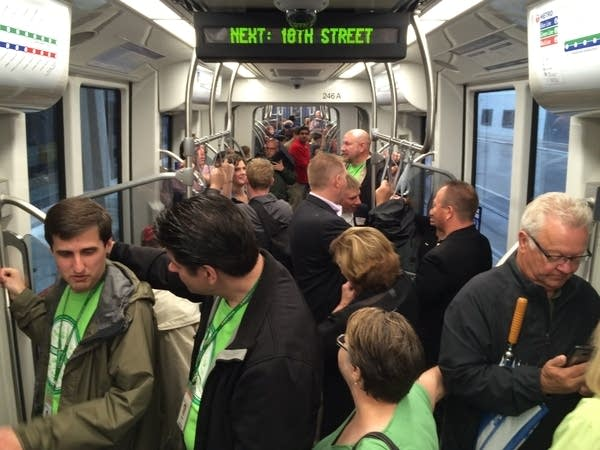 The Green Line's first few riders