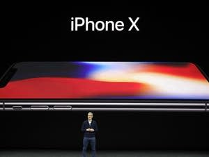 Tim Cook announces the new iPhone X