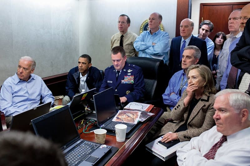 Obama and his national security team.
