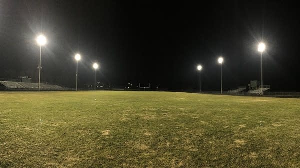 The lights at the Pine City High School football field