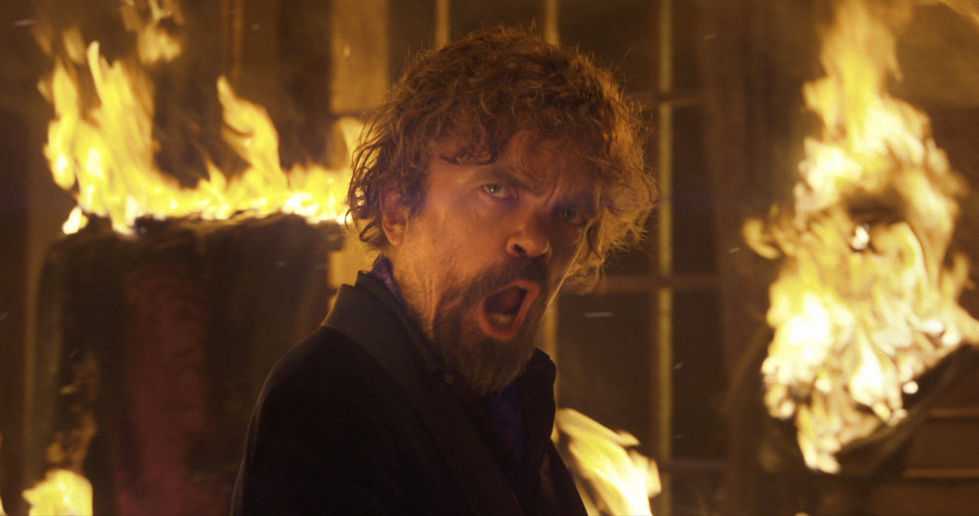 Peter Dinklage in a scene from PepsiCo's Doritos Blaze Super Bowl spot.