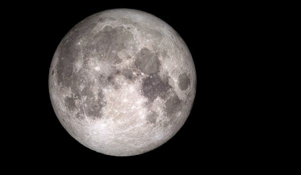 Composite image of the moon