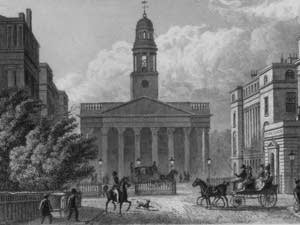 York Gate and St Marylebone Parish Church