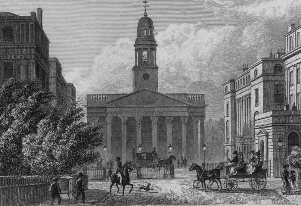 York Gate and St Marylebone Parish Church