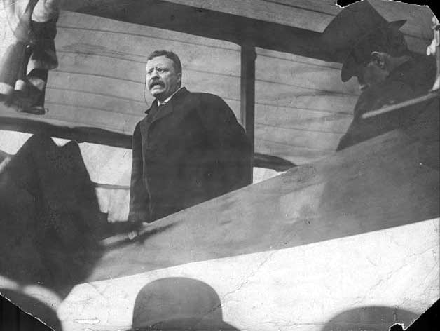 Theodore Roosevelt at the Minn. State Fair in 1908