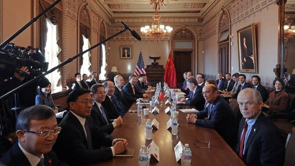 Trump administration officials sit down with Chinese senior officials.