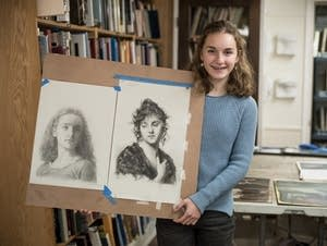Fina Mooney, 14, of Minneapolis, poses for a portrait