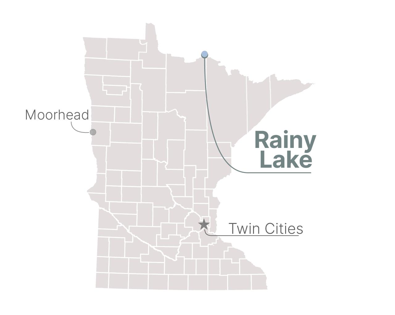 Rainy Lake, on the Canadian border.