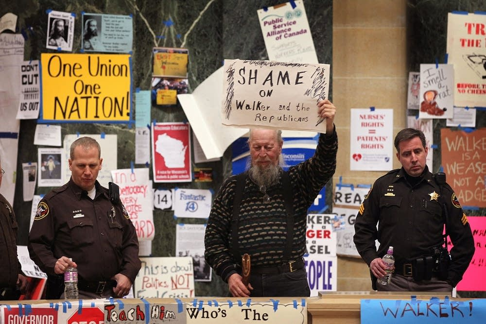 Protests in Wisconsin