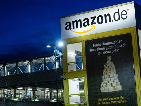 An Amazon warehouse in Leipzig, Germany