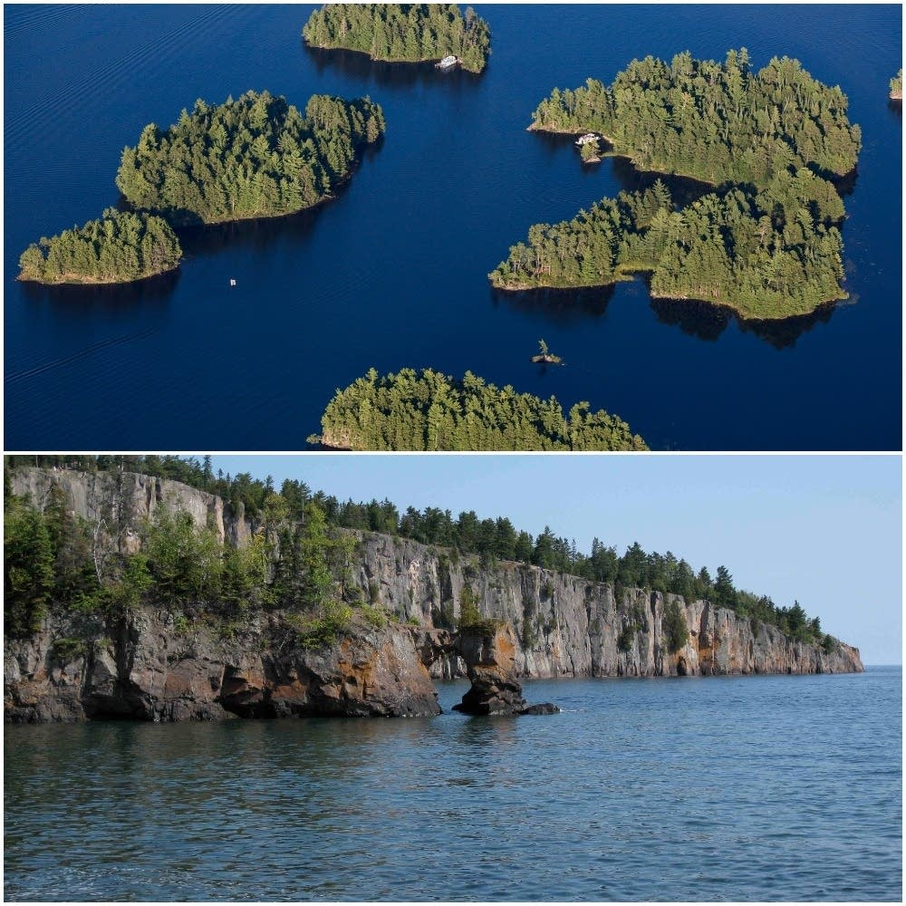 Kabetogama (top) vs. Superior (bottom). Vote for your favorite now.