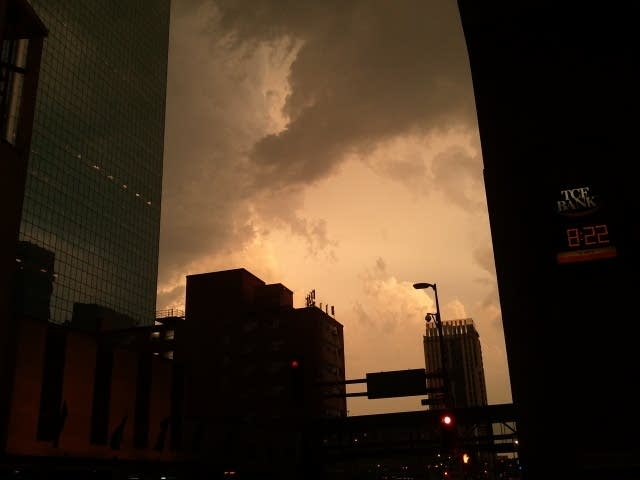 Stormy downtown