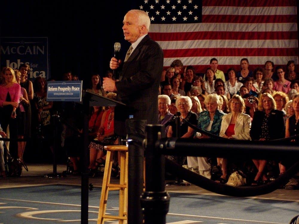 McCain in Hudson