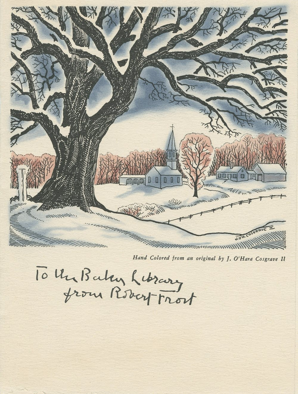 Robert Frost's Christmas cards