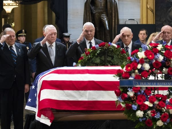 A Nation S Farewell Bush Saluted With Praise Humor Cannons Mpr News