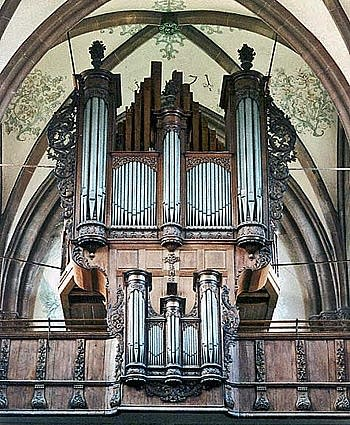 1710 Andreas Silbermann organ at the Église Saint-Étienne, Marmoutier,...