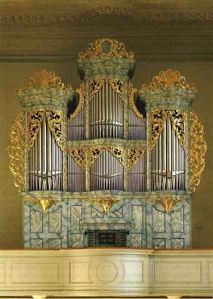 1985 Ahrend organ at the Jesuit Church, Porrentruy, France