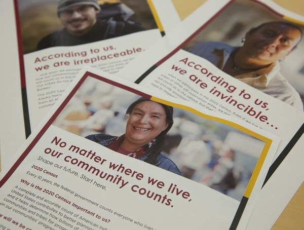 Three flyers with information about the 2020 Census.