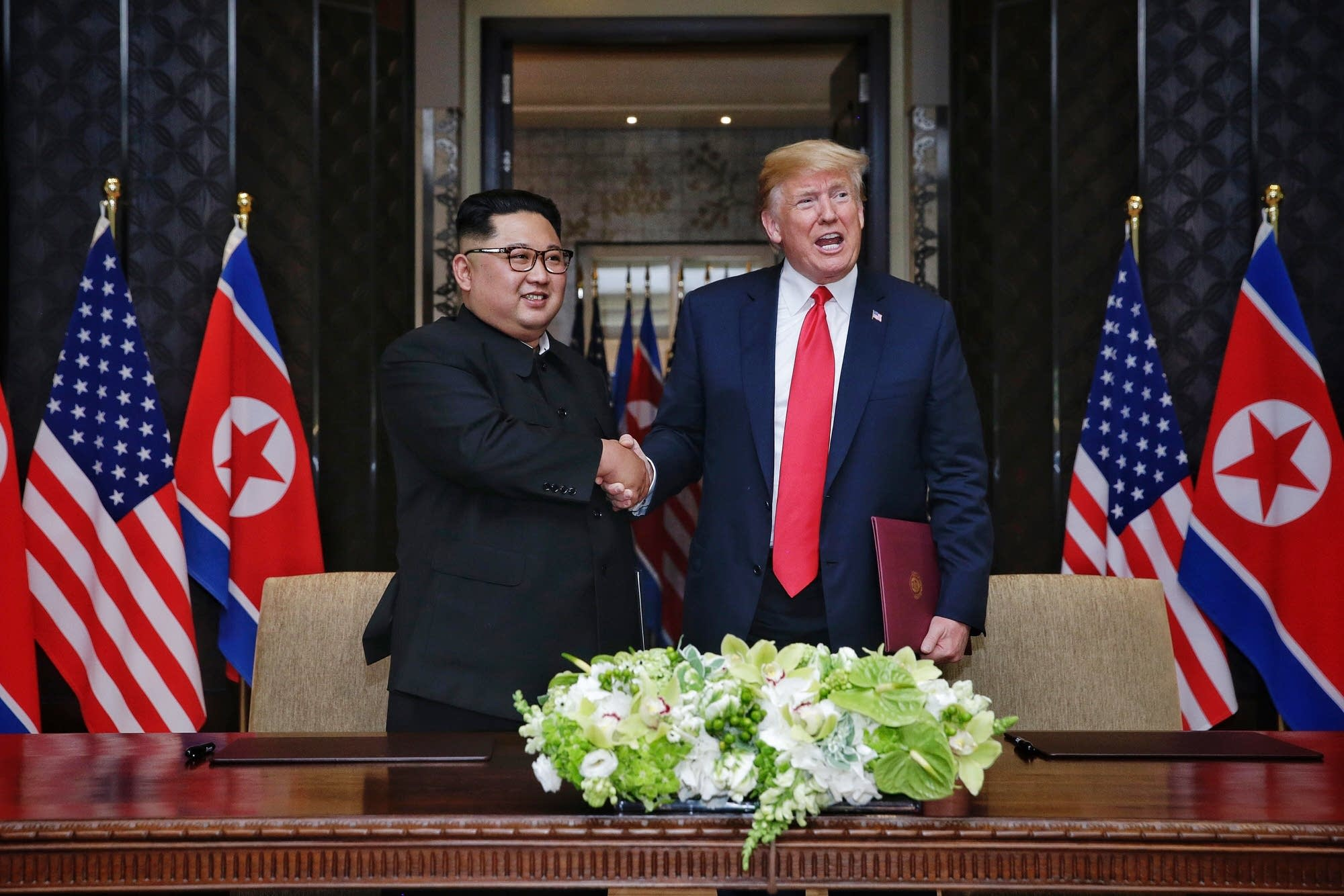 President Trump meets North Korean leader Kim Jong Un.