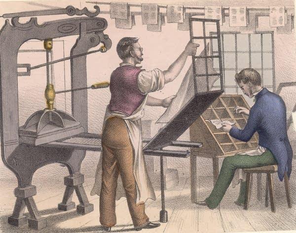 Printer and typesetter