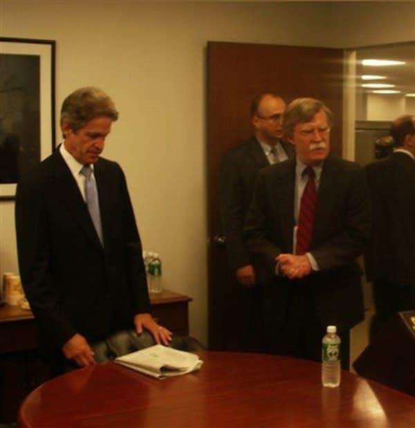 Sen. Coleman with U.N.Ambassador John Bolton.