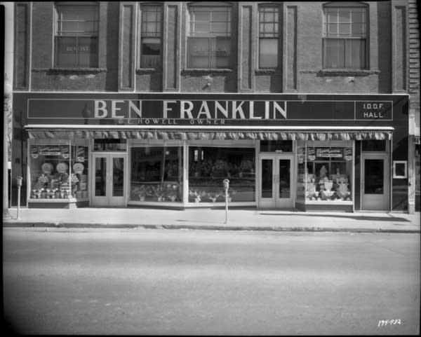 Ben Franklin store, likely in Hopkins