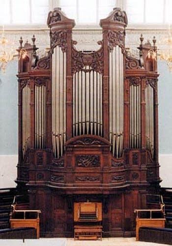 1882 Willis organ at Reading Town Hall, England, UK