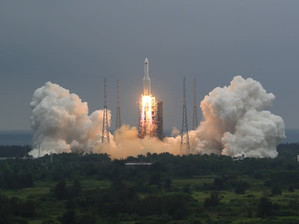 A rocket is launched