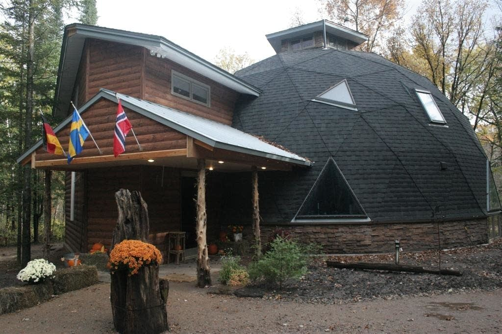 A geodesic dome home in North Branch, Minn.