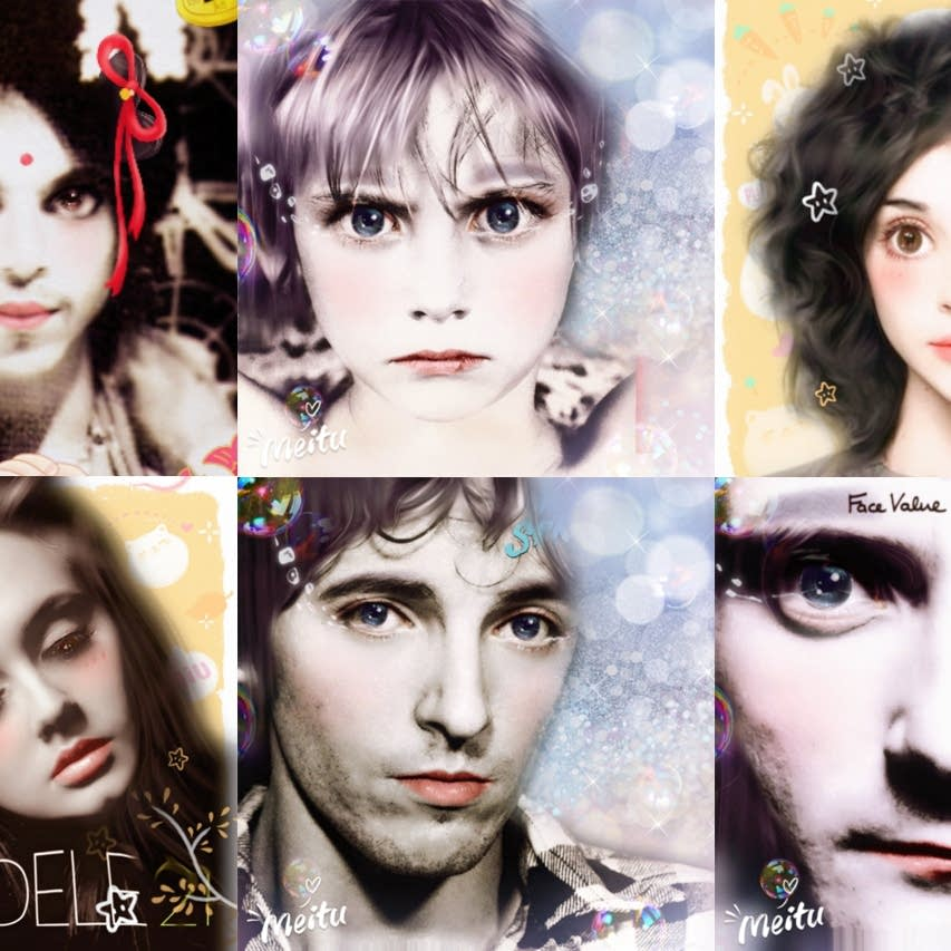 Six albums given the Meitu treatment