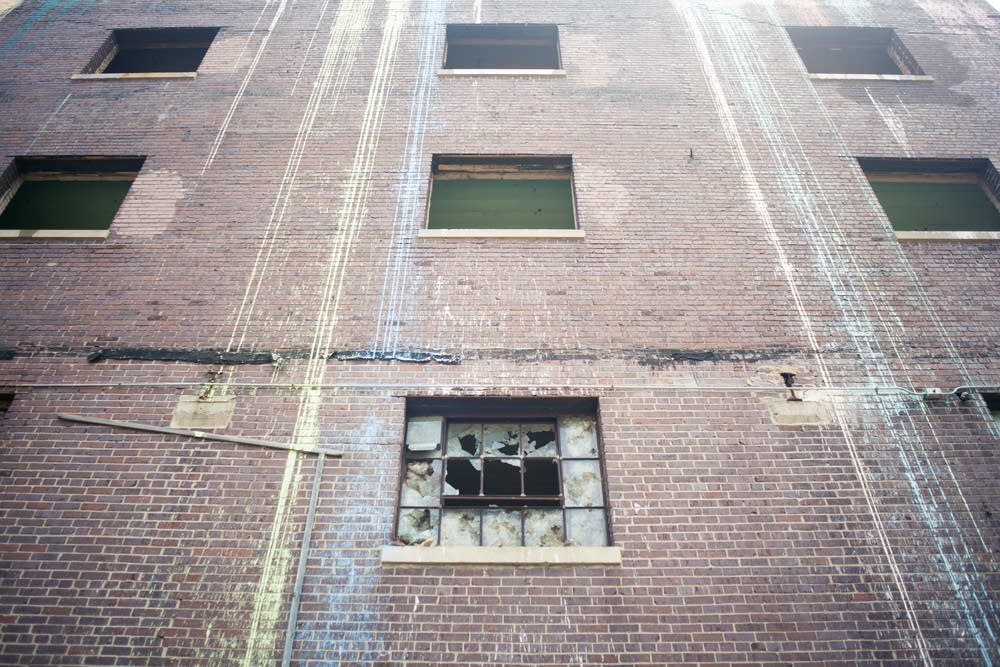 Broken windows on Lowertown Depot