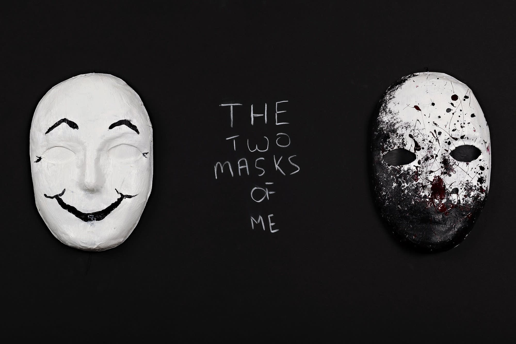Veteran Steven Fraase created this pair of masks.