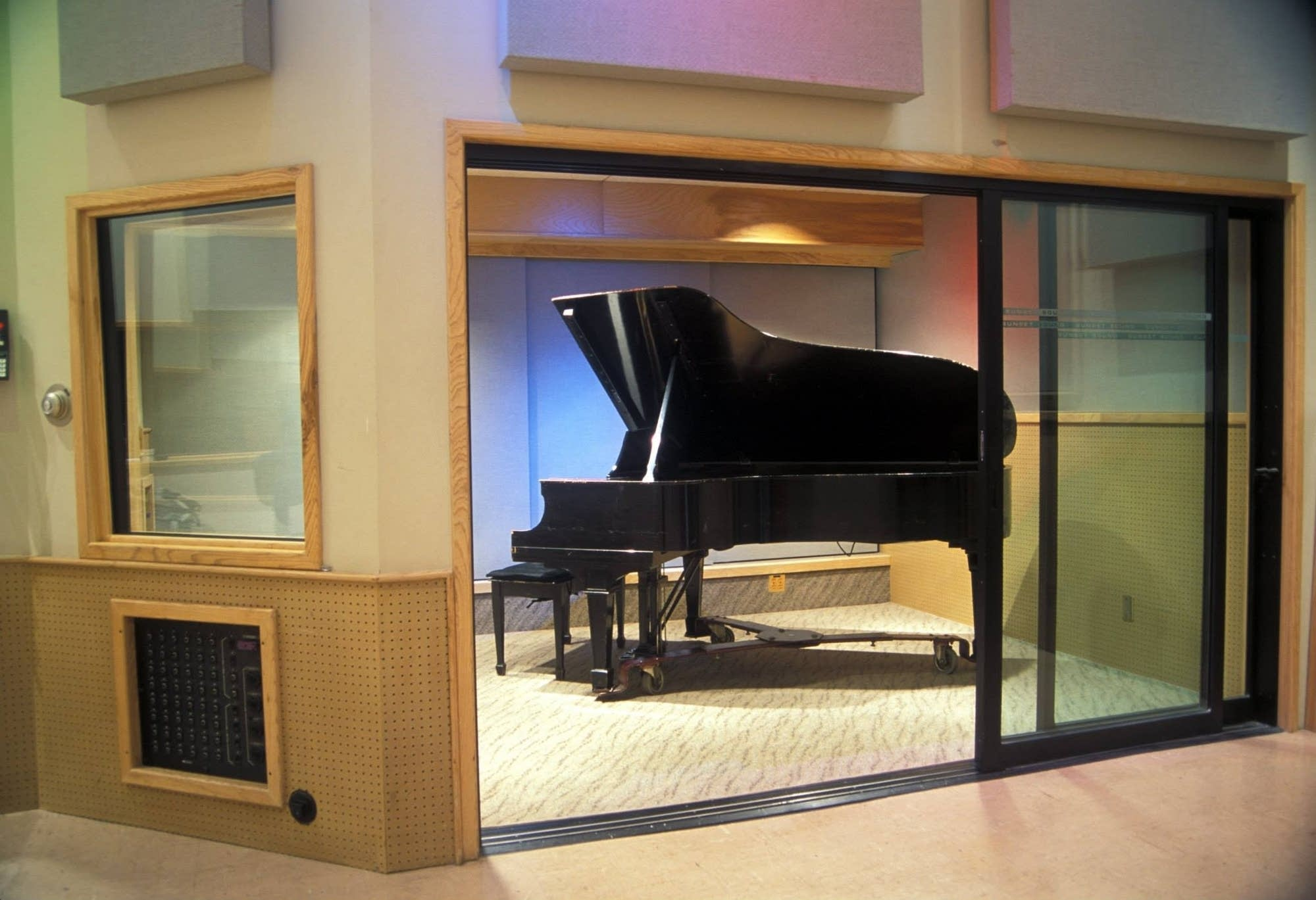 Piano in Sunset Sound studio 2