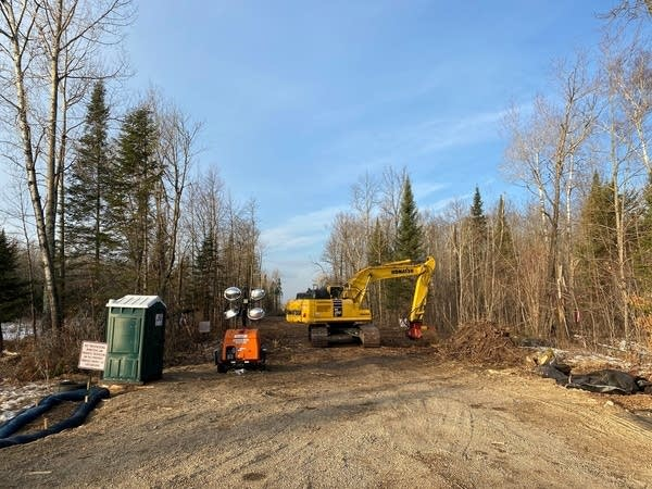 Heavy equipment clears trees and brush from the Line 3 pipeline corridor.