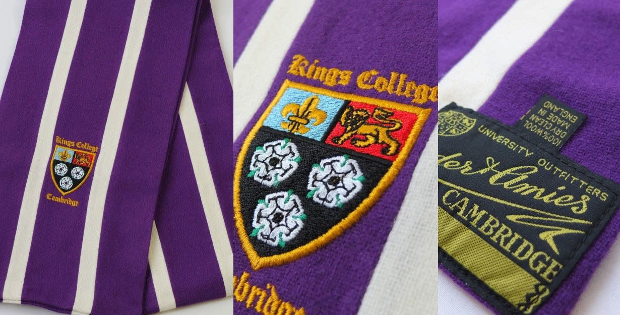 King's College crested scarf