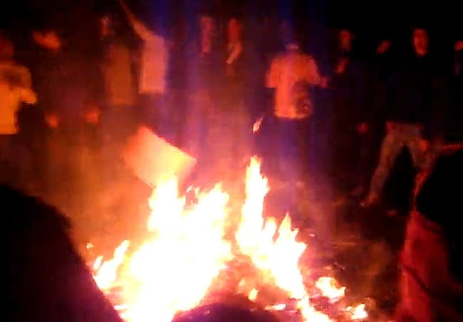 Fire during Spring Jam 2009