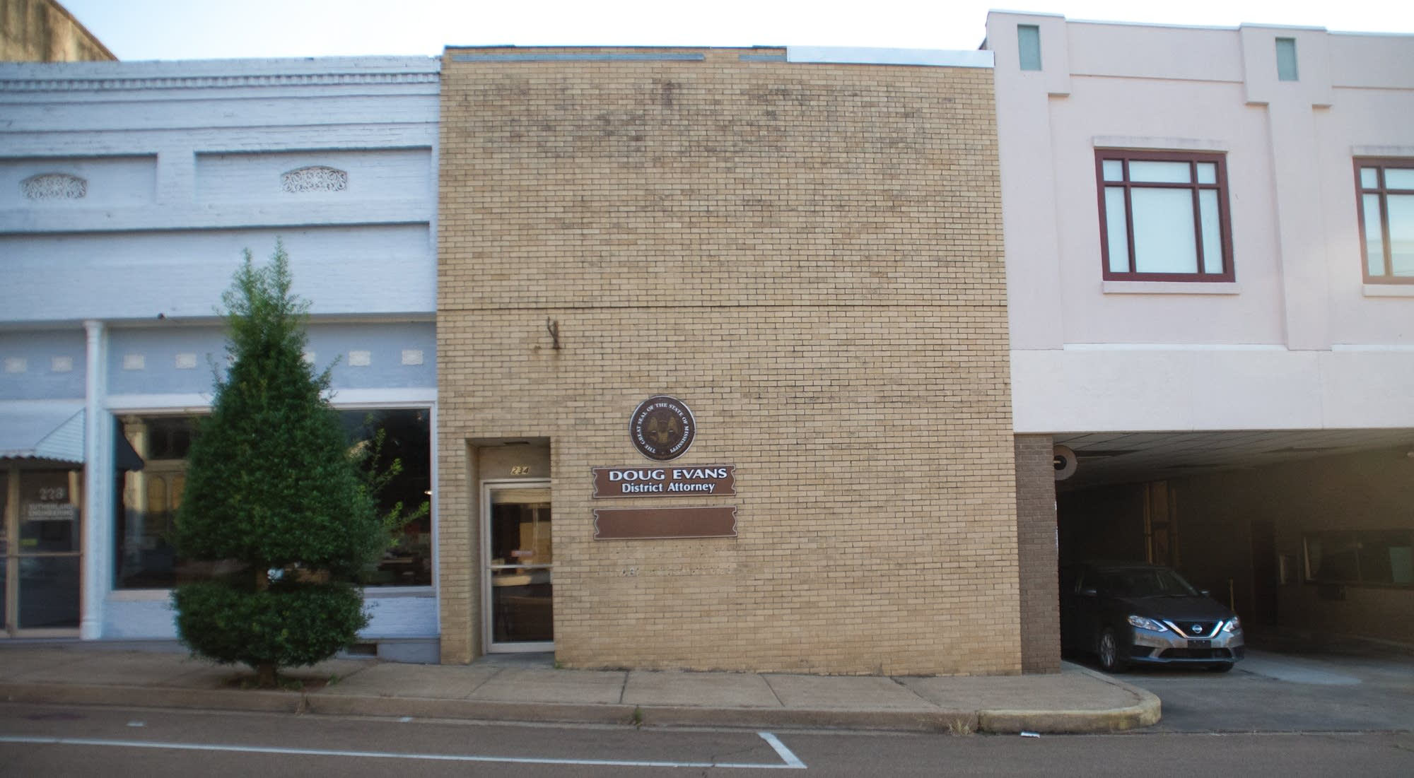 District attorney Doug Evans' office in Grenada, Mississippi.